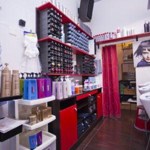 Photographie du salon de coiffure David Art'Coiffure avec les produits