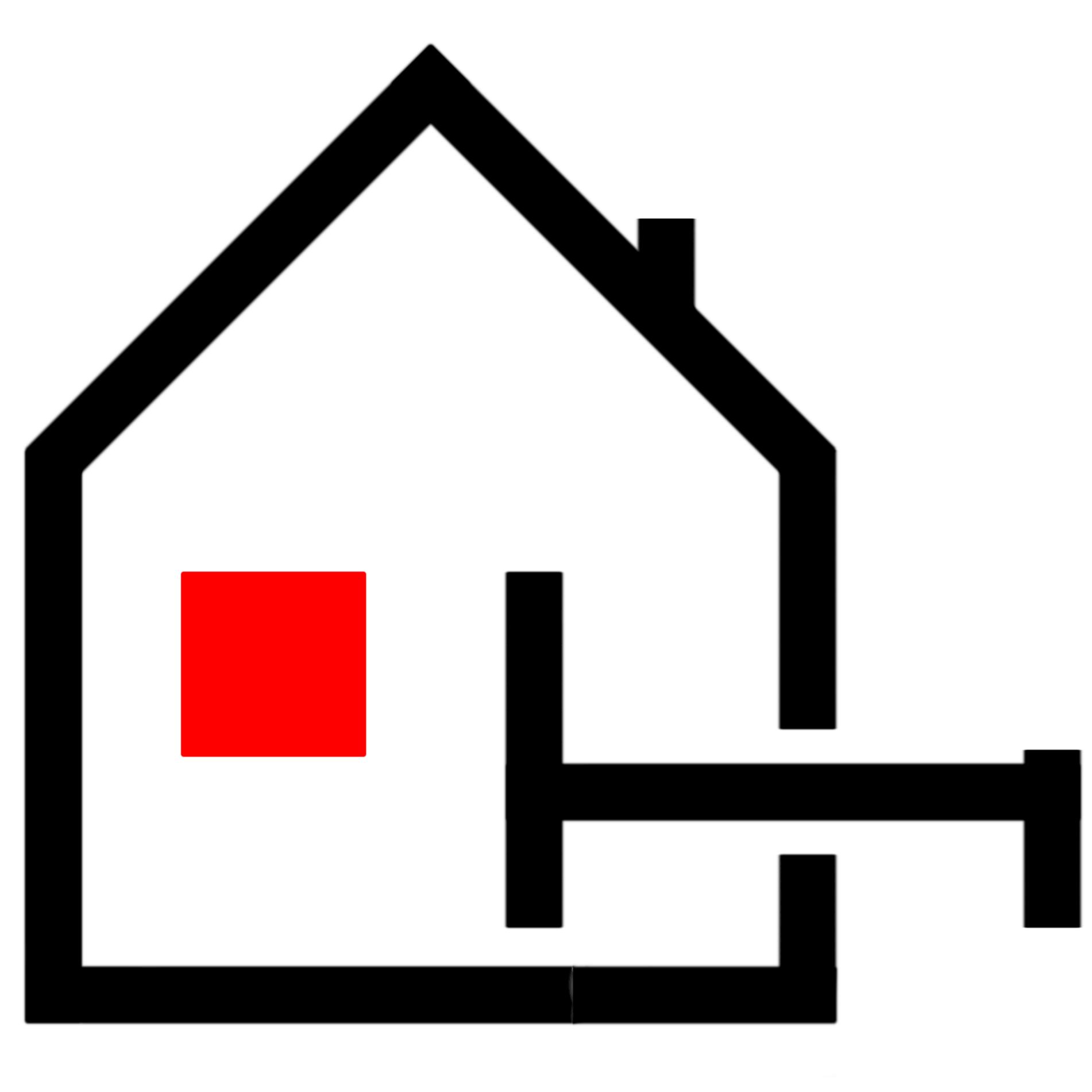 Logo du Centre Orchidée : une maison avec un lit